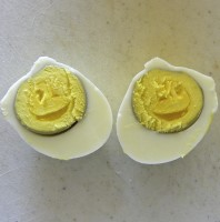 Hard Boiled Eggs Smiley