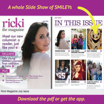 Spontaneous Smiley in The Ricki Lake Show Magazine