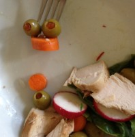 Olive and Carrot Salad Smiley