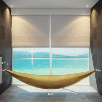 Love a hammock. Love a hot bath.