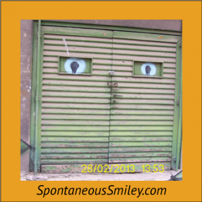 Garage Door Smiley