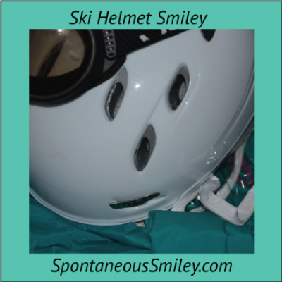 Ski Helmet Smiley