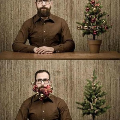 I heard of flowers in a beard…
