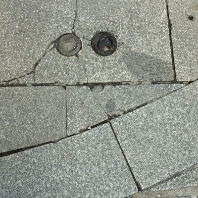 Sidewalk Smiley
