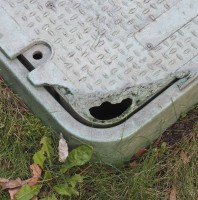 Winking Utility Box Smiley