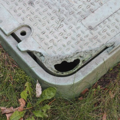 Winking Utility Box Smiley