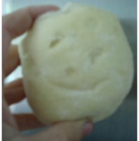 Dinner Roll Smiley