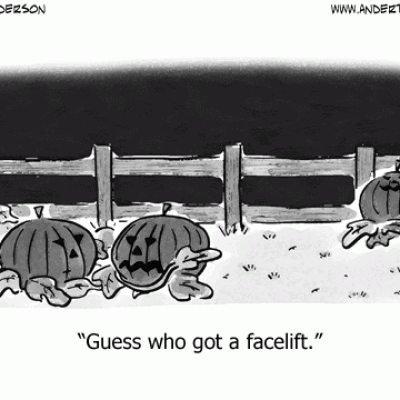 Another pumpkin facelift cartoon