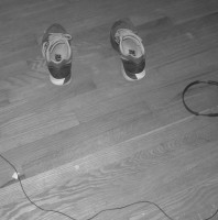 Shoes and Headphone Cord Smiley