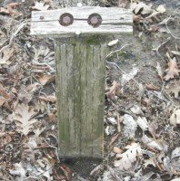 Wooden Post Smiley, #Smiley