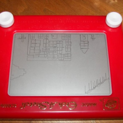 Etch-a-Sketch Smiley, #Smiley