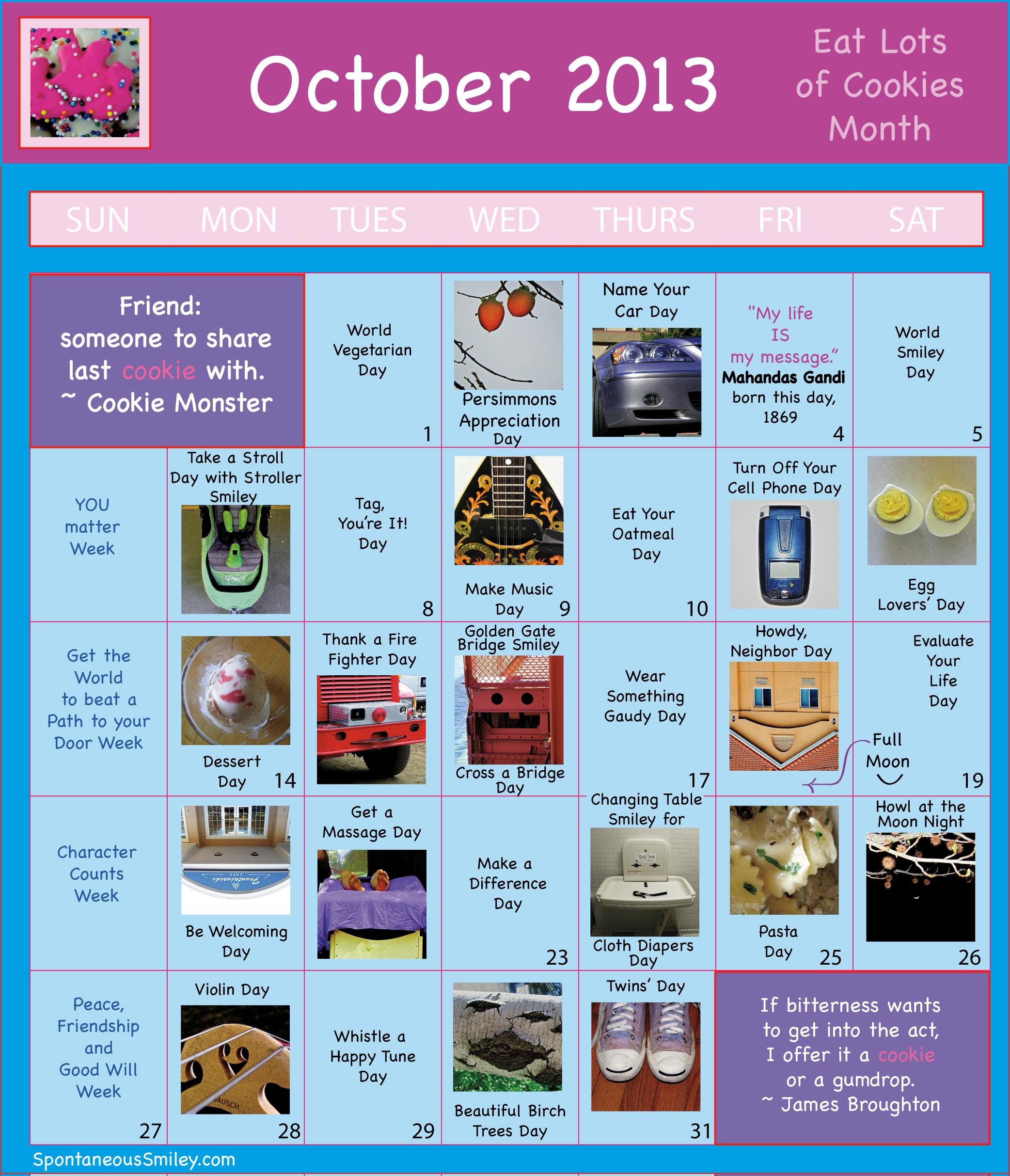 Calendar 2013-10
