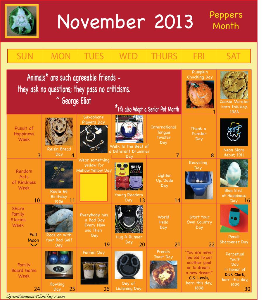 Calendar 2013-11