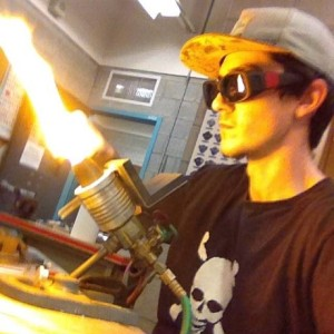 Ryan, glass blowing.